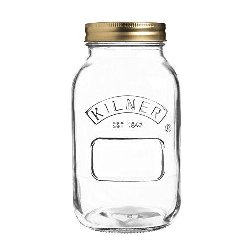 Kilner 25.401 Preserve, Jam, Chutney Jar, 1 Litre