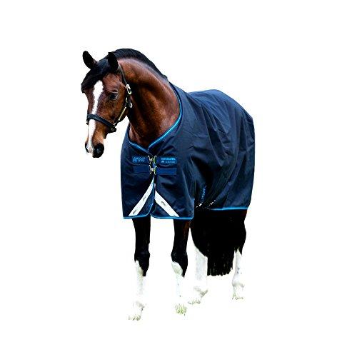 Horseware Amigo Bravo 12 - Winterdecke oder Regendecke 125cm 100g Füllung navy/navy & electric blue