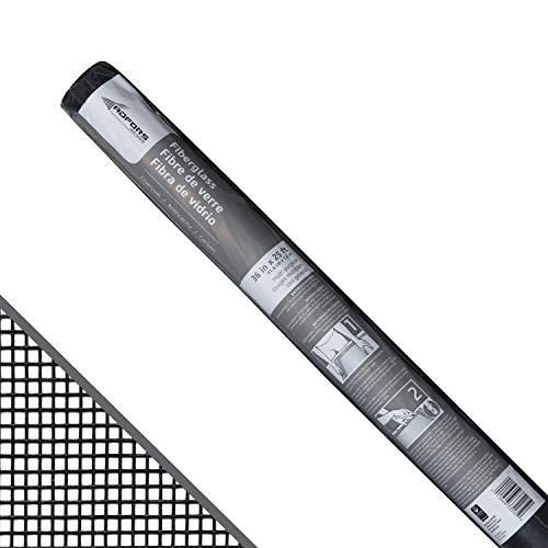 Saint-Gobain ADFORS FCS8555-M 36' x 25' Fiberglass Screen, 25, Charcoal