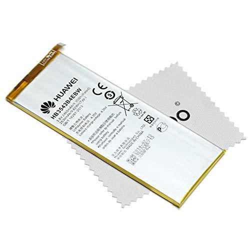 Batería para Original Huawei HB3543B4EBW LiIon para Huawei Ascend P7 con mungoo pantalla paño de limpieza