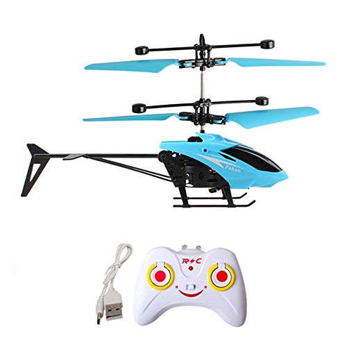 Tomppy RC Helicopter, Mini Remote Control Aircraft with Gyro, Infrared Induction RC Drone Airplane Toys for Kids Boys Girls