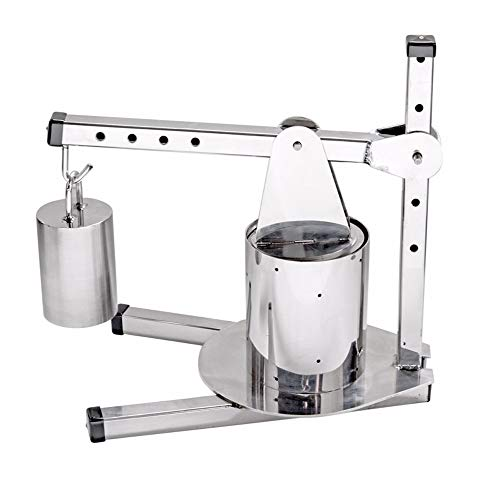 The Sausage Maker – Adjustable Stainless Steel Dutch Style Cheese Press (includes 10 Lb Weight)