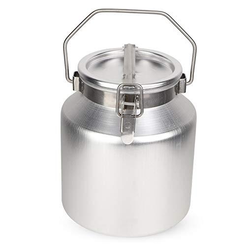 QFDM Botella de Almacenamiento Cubo de Barril de aleación de Aluminio de 5L con Capacidad de Almacenamiento de contenedores de Mango Botellas, Jarras y Cajas