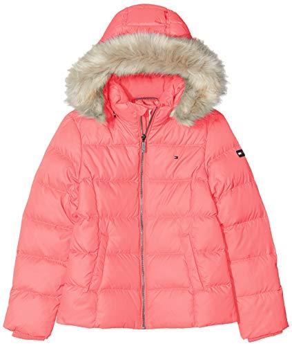Tommy Hilfiger Mädchen Essential Basic Down Jacket Jacke, Pink, 4