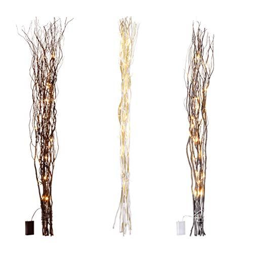 Weidenäste mit LED-Birnen Batteriebetrieben in verschieden Farben Wählbar länge ca. 115 cm (hell)