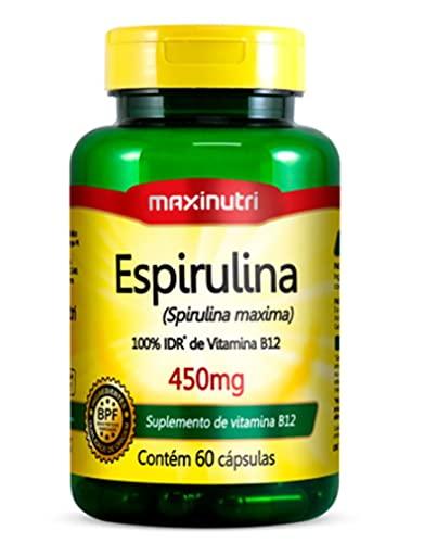 Espirulina 450mg - 60 cápsulas, Maxinutri