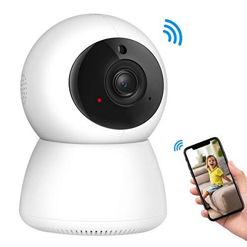 【App Kontrolle】Criacr WLAN Kamera 1080P, Überwachungskamera Innen Wlan, 355° Winkel Baby/Haustier Überwachungskamera, IP Kamera unterstützt Fernalarm, Nachtsicht, 2 Wege Audio, Bewegungserkennung