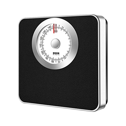 XLOO Mechanical Personal Scale, Analog Bathroom Scale,All metal structure, no battery needed,Accurate scale, easy-to-read dial, maximum weighing 150kg,28.5×27×42cm