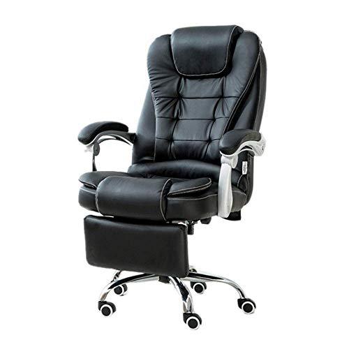 ykw Silla de ordenador E-Sports Silla de cuero de la PU de las sillas de la espalda alta de las mesas y sillas de la oficina de las sillas
