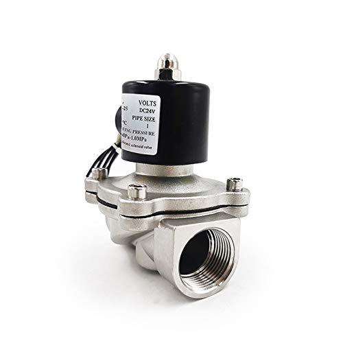 SHENYF Válvula 1/4'3/8' 1/2'3/4' 1'DN8 DN15 DN25 Válvula solenoide eléctrica de Acero Inoxidable 12V 24V 220V 110V Válvula neumática para Agua de Aceite de Agua