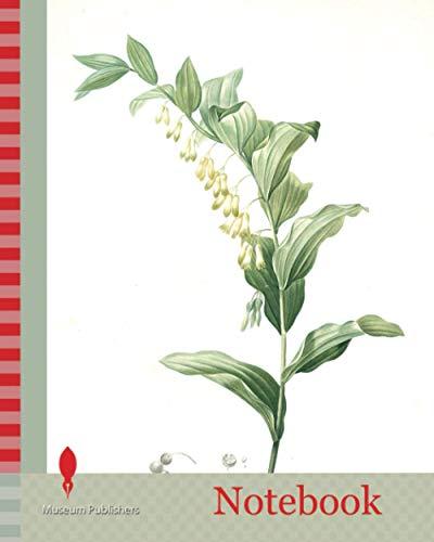 Notebook: Polygonatum multiflorum, Polygonatum multiflore, Eurasian Solomon's Seal, Redouté, Pierre Joseph, 1759-1840, les liliacees, 1802 - 1816