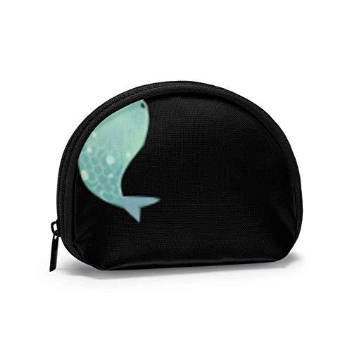 Mini-Aufbewahrungstasche, Muschel-Geldbörse, kleine Tasche, tragbare Brille, Fische, dunkelviolett,...