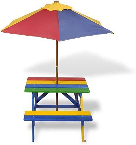 HLLL Sonnenschirme Sonnenschirm, Kinder Picknicktisch Bänke Mit Sonnenschirm Kinder Garten Picknick Sitz Für Garden Cafe Outdoor