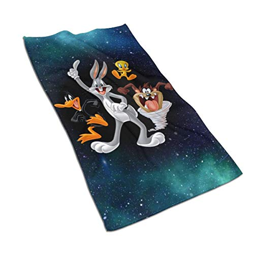 Yuanmeiju Badetuch Bugs Bunny & Taz Tweety Daffy Soft Towel Quick Dry Bath Towel Unisex Lightweight Beach Towel One Size