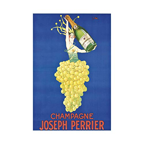 Joseph Perrier Champagnerposter Cartoon Poster Bild Druck Büro Familie Schlafzimmer Dekor Leinwand Poster