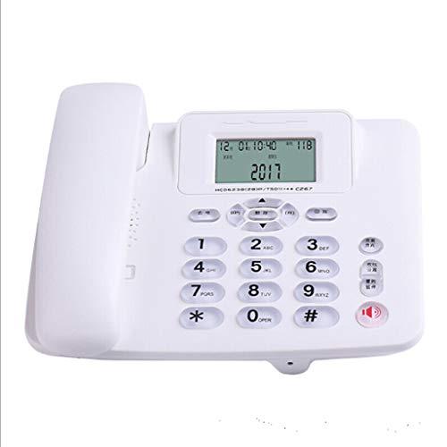 Cakunmik Teléfono Fijo Home Landline Office Hotel Habitación de huéspedes Teléfono con protección Llamada sin Manos Reenvío de Llamadas Dual Access Port,C