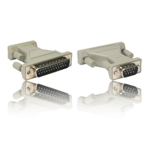 Preisvergleich Produktbild CDL Micro DB9 RS-232 Stecker auf DB25 25-polig Stecker Gender Changer Adapter