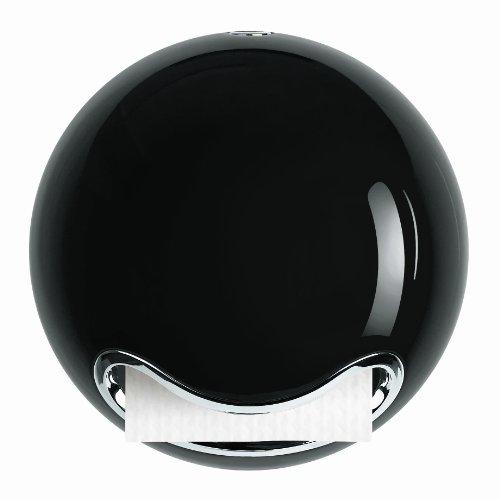 Spirella 18,5x18,5x16,5, Negro colección Bowl, Dispensador de Papel higiénico-Barra, ABS