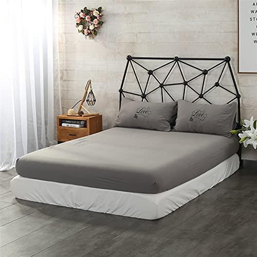 Set de lámina lisa Suella de cama cubierta de invierno hojas pulidas 150 colchas dobles para con una banda elástica cubre algodón hogar (Color : 18, Size : 90cmX200cmx20cm)