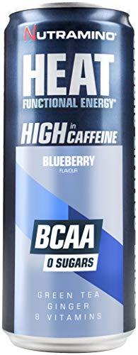 Nutramino Heat BCAA Supplement, Blueberry, Pack of 24, 330 ml/7.920 Kg