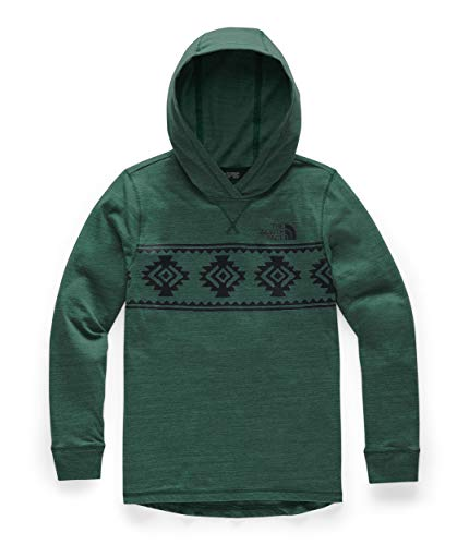The North Face Boys' Tri-Blend Pullover Hoodie, Fiery Red Heather, XXS