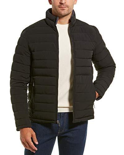 Nautica Mens Reversible Quilted Coat, L, Grey