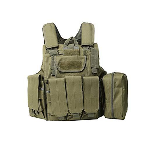 LXY&AI Chaleco Táctico De Camuflaje Militar - Equipo De Protección De Campo De CS Al Aire Libre Molle - Viene con Varios Bolsillos Desmontables - Negro