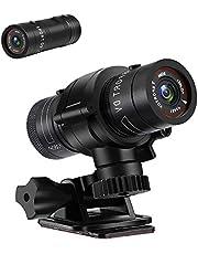 LXMIMI Action Cam, 1080P HD Telecamera per Moto, 120° Grandangolo Videocamera Bici, Registratore Video Auto, Registratore Auto Bici Impermeabile per Deserto All'aperto