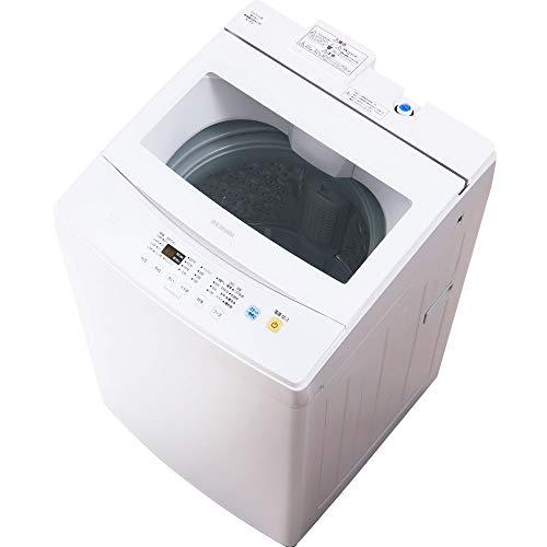 アイリスオーヤマ 洗濯機 7kg 全自動 部屋干しモード ガラストップ ステンレス槽 槽洗浄 ホワイト IAW-T702