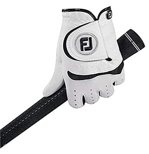 Footjoy Kinder Golfhandschuh Junior RH für rechte Hand (Linkshänder), Weiß (White), Small