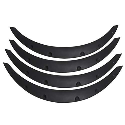 Kotflügelverbreiterung, 4x Universal Auto Radlauf Radlaufleiste Radlaufverbreiterung Verbreiterung SUV Kotflügel Fender Flares Bögen Rad Augenbraue Protector Auto Änderung Zubehör