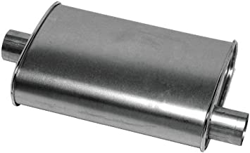 Upower Exhaust Turbine Muffler//Resonator 2506-304 Stainless Steel 2.5 Inlet//Outlet