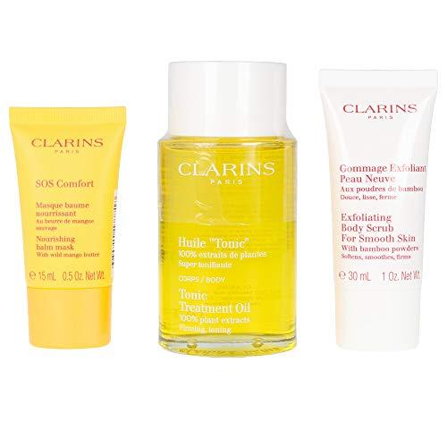 Clarins Huile Tonic+ Exfoliante 30Ml + Sos Confort 15Ml