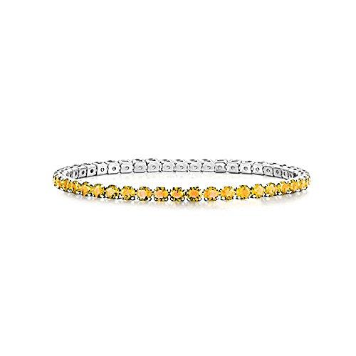 AKKi jewelry Damen Armband Versilbert Strass Armreif Armkette Schmale Dünne Glitzer Kinder Bänder 3mm Wert #8
