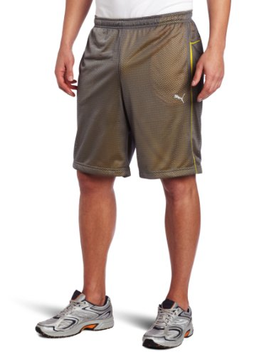 PUMA Men's Mesh USP Short, Castlerock, Small