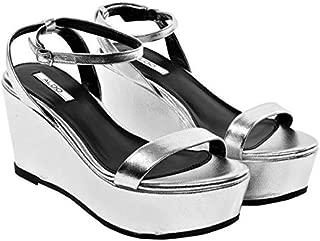Aldo Sandals For Women, 9 US, Silver