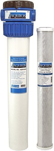 Aquios FS-220 Salt Free Water Softener and Filtration System, Blue