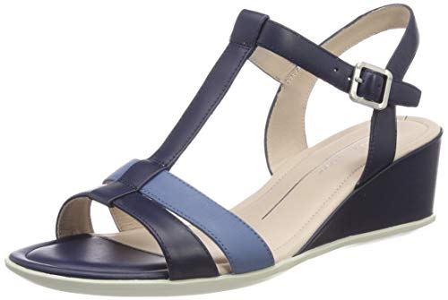 ECCO Damen Shape 35 Wedge Sandal Peeptoe Pumps, Blau (True Navy/Retro Blue 58913), 37 EU