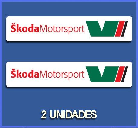 Ecoshirt JI-UY63-D75L Aufkleber Skoda Motorsport Dp692 Aufkleber Sticker Car Decals Rally Rallies, mehrfarbig