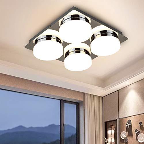 PADMA LED Deckenlampe Schlafzimmer Warmweiß 16W 3000K 1280 Lumen für Küche Esszimmer Wohnzimmer