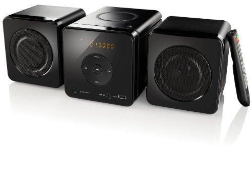auvisio CD Radio Stereoanlage: Micro-Stereoanlage m. CD-Player, AUX & USB-Wiedergabe, 20 Watt (Micro HiFi Anlage)