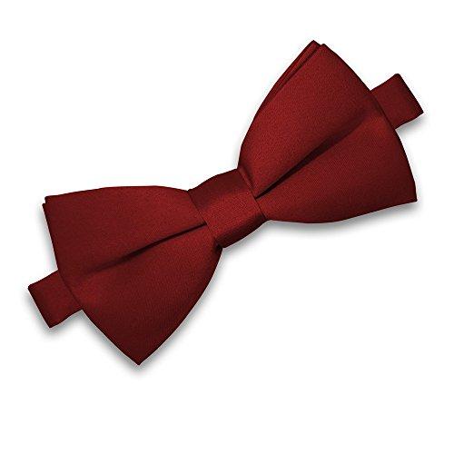 SoulCats® Noeud Papillon pour Homme pour Mariage ou Confirmation, Noeud Ajustable Classique noué, Couleur: Bordeaux