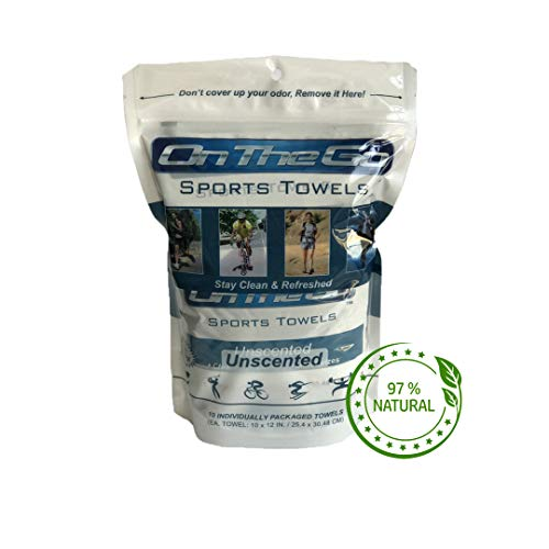 On The Go Towels Unscented Large Body Wipes (10)