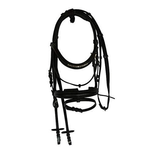 WHFEC Hand weven proces Leer hoofdstel koeienhuid Antislip duurzaam Voor paard racen