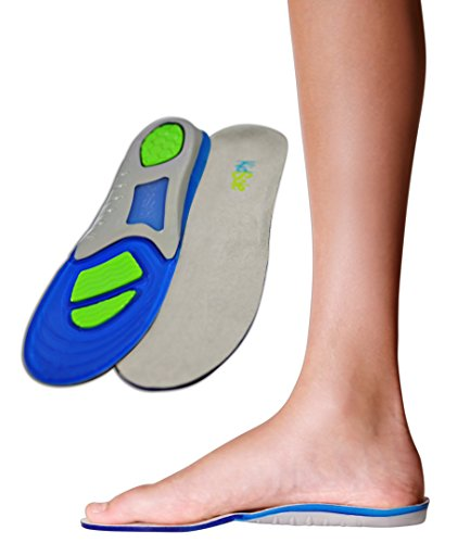 Children's Athletic Gel Insoles for Cushion and Comfort for Active Children ((24 cm) Kids Size 2-6)