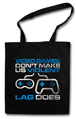 Urban Backwoods Video Games Don't Make Us Violent Boodschappentas Schoudertas Shopping Bag