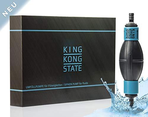 King Kong State ® Handpumpe NEU - Umfüllpumpe für Flüssigkeiten wie Wasser, Benzin, Diesel oder Öl-Gemische l optimal für den Auto- und Motorrad-Bereich