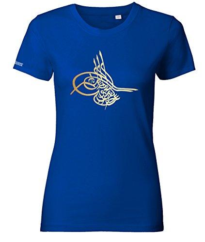 Jayess Tugra - Osmanisches Zeichen - Royalblau - Women T-Shirt by Gr. M