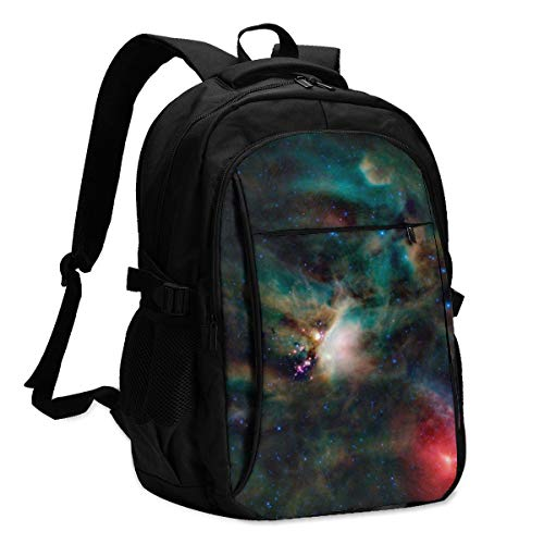 Lzxlxr Sky Full of Stars in The Mysterious Sky Backpack for School with USB Charging Port & Headphone Port for Men Women, Laptop Backpack Fits 14-16'' Laptops