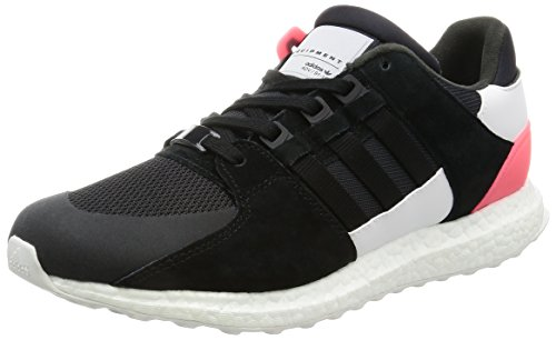 adidas Originals EQT Support Ultra Mens Synthetic Material Trainers Black/Grey/White/Red - 8 UK
